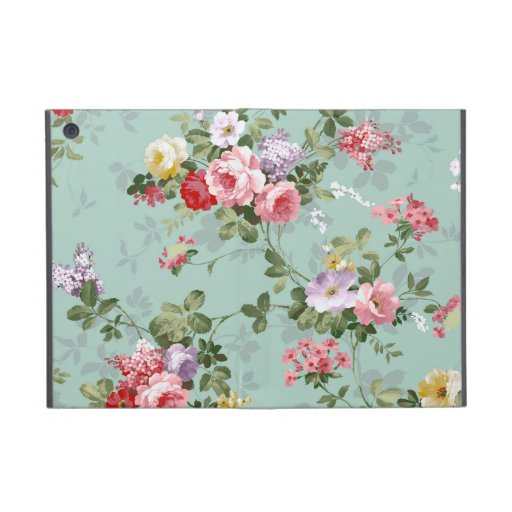 Vintage Elegant Pink Red Roses Pattern Covers For iPad Mini