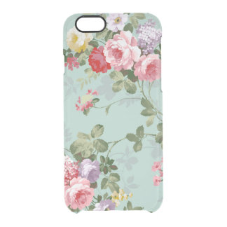 Vintage Elegant Pink Red Roses Pattern Uncommon Clearly™ Deflector iPhone 6 Case
