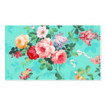 Vintage Elegant Pink Red Yellow Roses Pattern Double-Sided Standard Business Cards (Pack Of 100)