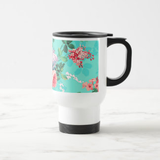 Vintage Elegant Pink Red Yellow Roses Pattern Mug