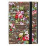 Vintage Elegant Pink Roses Brown Wood Photo Print Case For Ipad Mini at Zazzle