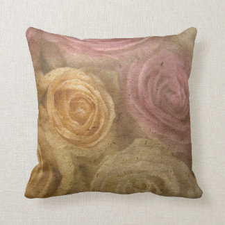 Vintage elegant rustic roses victorian floral pillows