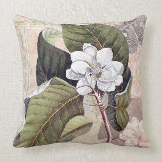 Vintage Elegant Southern Magnolia Chic mojo_throwpillow
