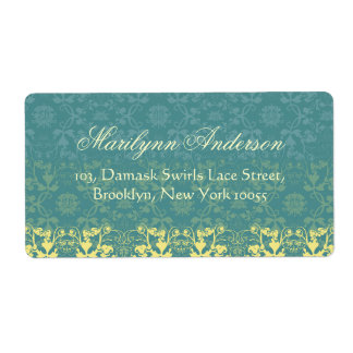 Vintage Elegant Stylish Chic Damask Lace Floral Labels