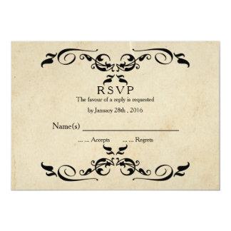 Vintage Elegant Wedding RSVP Card