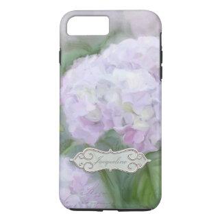 Vintage elegante bonito de la pintura de la flor funda iPhone 7 plus