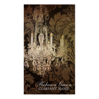 vintage elegante de la lámpara del damasco promoci tarjetas de visita