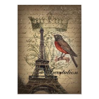 vintage elegante de París de la torre Eiffel del Comunicado Personalizado
