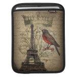 vintage elegante de París de la torre Eiffel del p Funda Para iPads