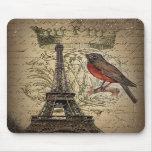 vintage elegante de París de la torre Eiffel del p Alfombrilla De Ratón