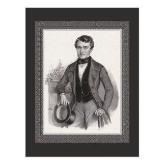 Vintage elegante del caballero hermoso de Biederme Tarjetas Postales