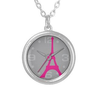 vintage elegante Eiffel París del reloj de bolsill Colgantes