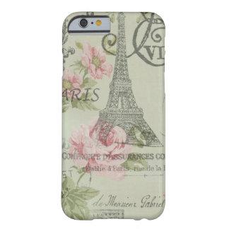 vintage elegante femenino de la torre Eiffel de Funda De iPhone 6 Barely There