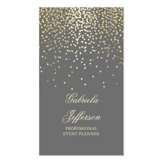 Vintage elegante gris del encanto del confeti del tarjetas de visita