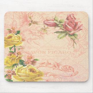Vintage elegante Mousepad floral Tapetes De Ratones