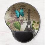 Vintage elegante París de la torre Eiffel de la ma Alfombrilla De Ratón Con Gel