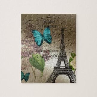 Vintage elegante París de la torre Eiffel de la ma Rompecabezas Con Fotos