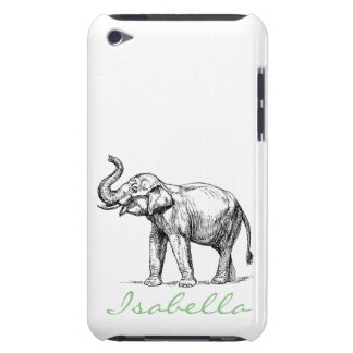 Vintage elephant add your name text elephants barely there iPod case