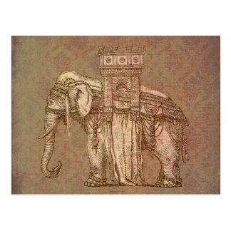 Vintage Elephant Bastille Postcard