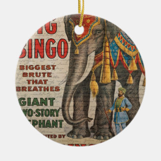 Vintage elephant ceramic ornament