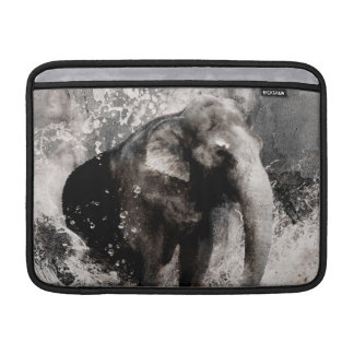 Vintage Elephant Drawing - Chinese Painting Art MacBook Sleeve