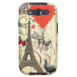 Vintage elephant & red heart balloons samsung galaxy s3 cases