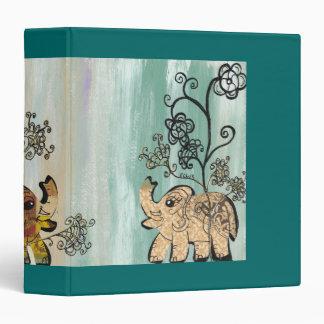 Vintage Elephants Binder