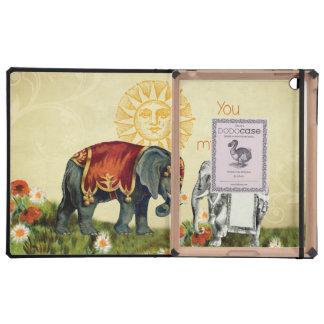 Vintage Elephants in Love iPad Case