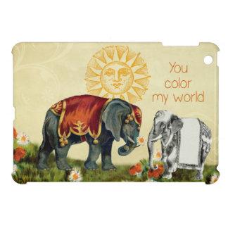 Vintage Elephants in Love iPad Mini Cover