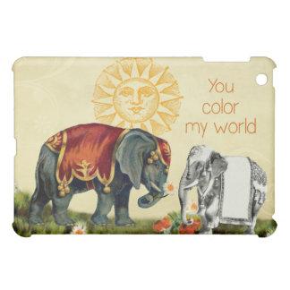 Vintage Elephants in Love iPad Mini Covers