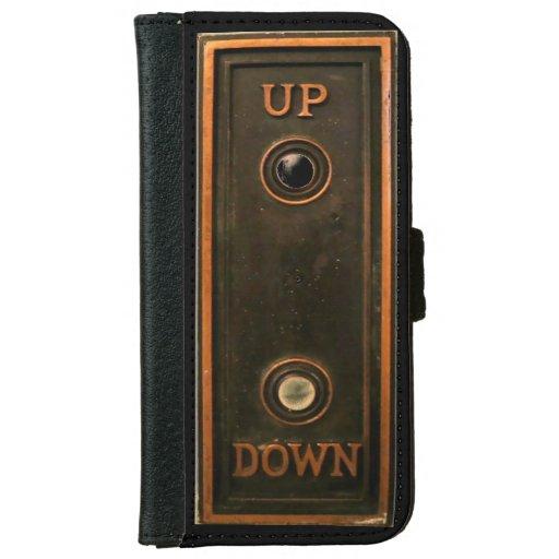 Vintage elevator button plate iPhone 6/6s wallet case