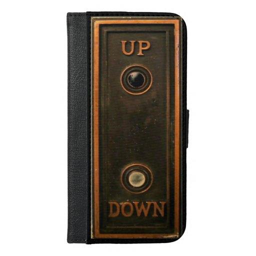 Vintage elevator button plate iPhone 6/6s plus wallet case