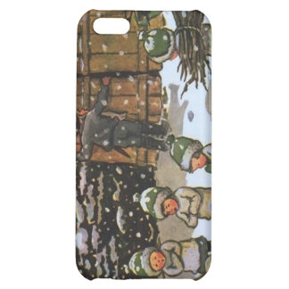 Vintage Elf Children in Winter Cover For iPhone 5C