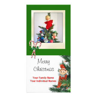 Vintage Elf Green Card