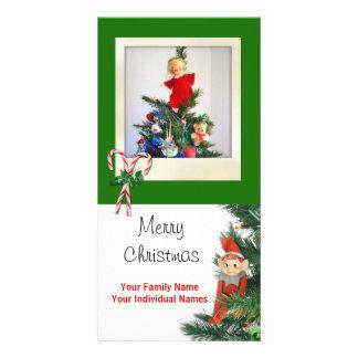 Vintage Elf Green Photo Cards