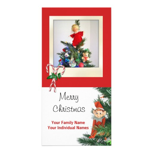 Vintage Elf Personalized Photo Card