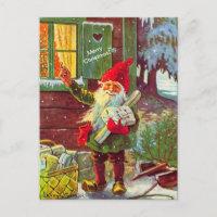 Vintage Elf Swedish Gnome Tomte (copy) Postcard