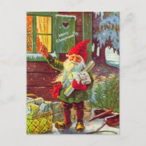 Vintage Elf Swedish Gnome Tomte (copy) Postcard