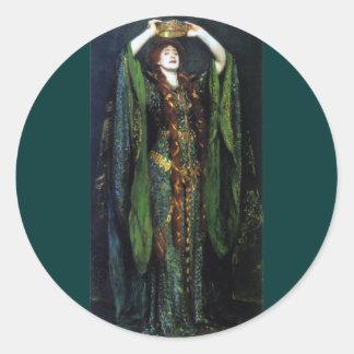 Vintage Ellen Terry as Lady Macbeth Classic Round Sticker