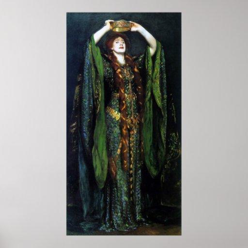 Vintage Ellen Terry as Lady Macbeth Print