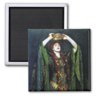 Vintage Ellen Terry como señora Macbeth Imán Cuadrado