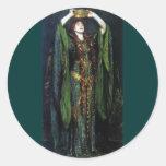 Vintage Ellen Terry como señora Macbeth Pegatina