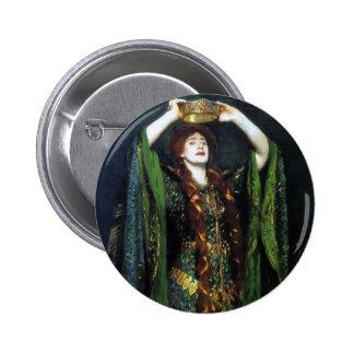 Vintage Ellen Terry como señora Macbeth Pin