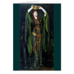 Vintage Ellen Terry como señora Macbeth Felicitación