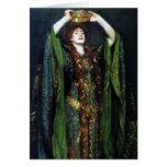 Vintage Ellen Terry como señora Macbeth Felicitacion