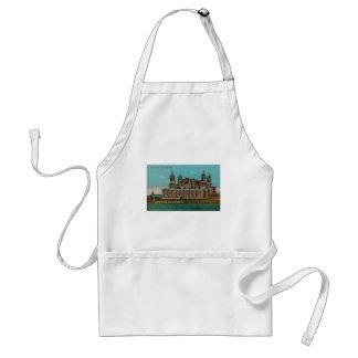 Vintage Ellis Island, New York City Adult Apron
