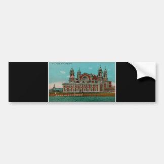 Vintage Ellis Island New York City Bumper Sticker