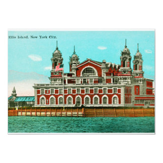 Vintage Ellis Island, New York City Invites