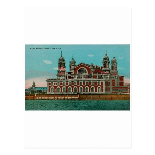 Vintage Ellis Island, New York City Postcard