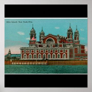 Vintage Ellis Island, New York CIty Print